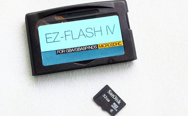 EZFlash IV/EZ Flash 4 GBA Flashcart v1.76 Kernel Download (Micro SD card Version)
