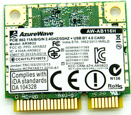 Atheros AR5B22 PCI-E 300Mbps USB WiFi Adapter + Bluetooth 4.0 Driver Download
