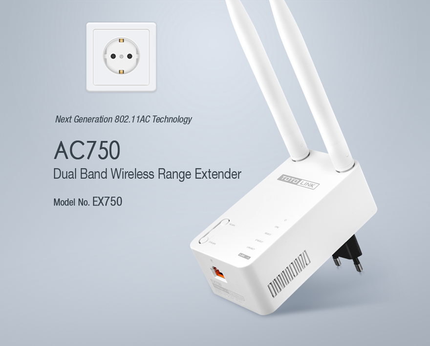 TotoLink EX750 WiFi Repeater v9.60-150713 ENGLISH Firmware Download
