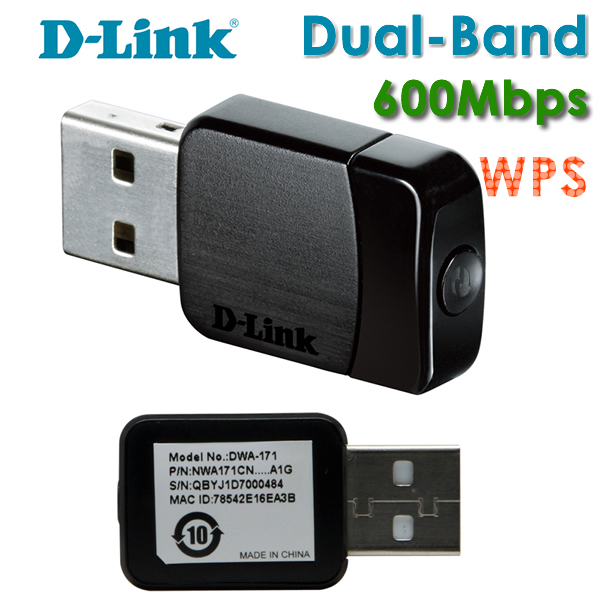 D-Link DWA-171 Wireless AC Dual-Band WiFi USB Adapter Driver Download for Windows 7/ 8/ 10