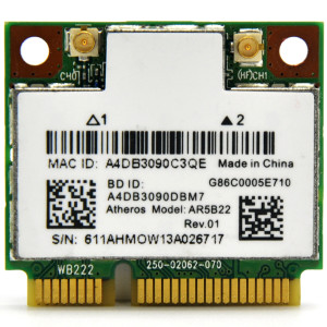 Atheros AR5B22 Mini PCi-E WLAN Driver and Bluetooth Driver Download
