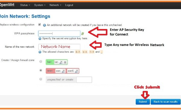 How to Configure OpenWRT Wifi Router WISP / AP+Client Mode?